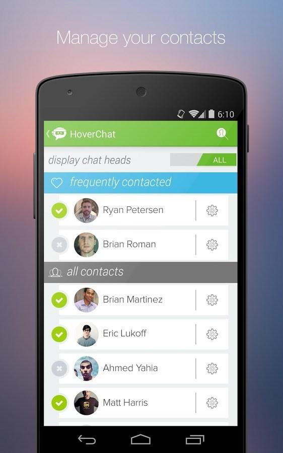 HoverChat Free (Ninja SMS) - Imagem 2 do software