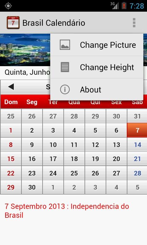 Brasil Calendário 2014 - Imagem 2 do software