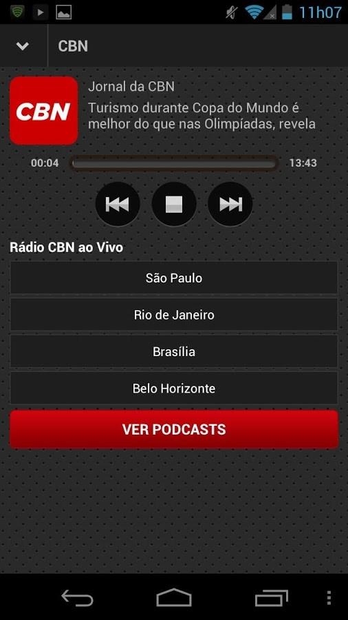 Rádio CBN - Imagem 2 do software