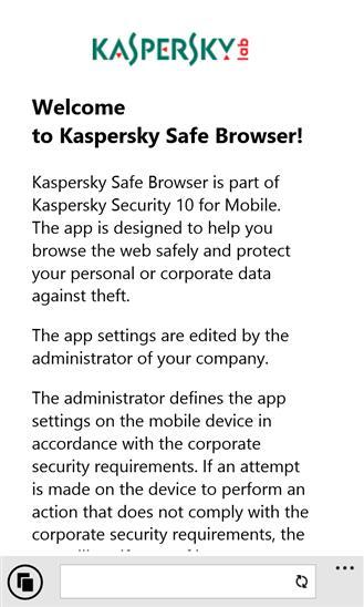 Kaspersky Safe Browser - Imagem 1 do software