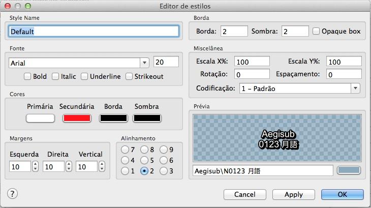 Aegisub - Imagem 2 do software