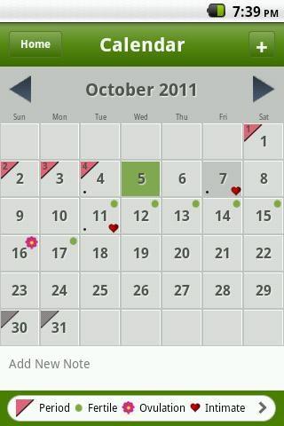 Calendário Menstrual - Imagem 2 do software