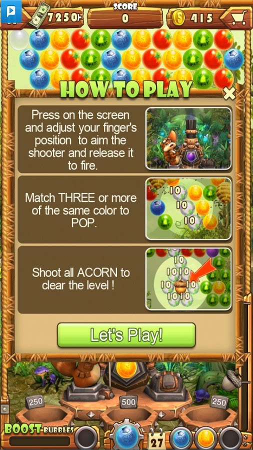 Acorn buster apk Download android game