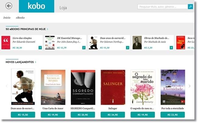 Livros da Kobo - Imagem 2 do software
