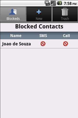 Bloqueador de SMS e Chamadas - Imagem 1 do software