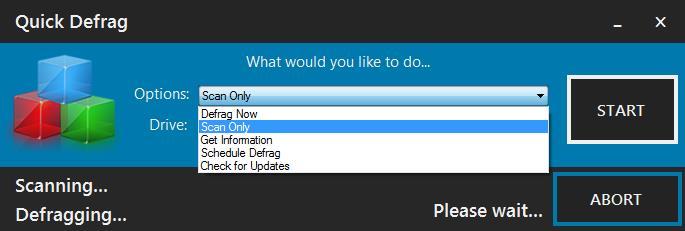 Quick Defrag - Imagem 1 do software
