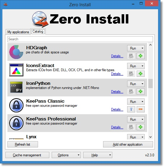 Zero Install - Imagem 1 do software