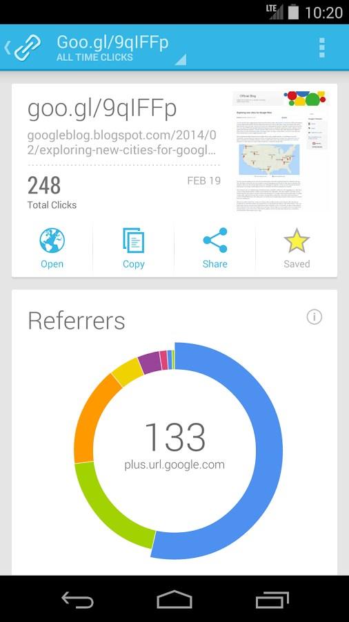 Google URL Shortener - Imagem 2 do software