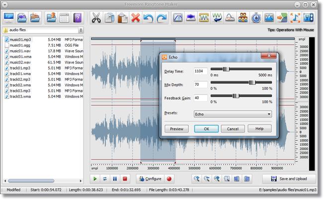 Freemore Ringtone Maker - Imagem 2 do software