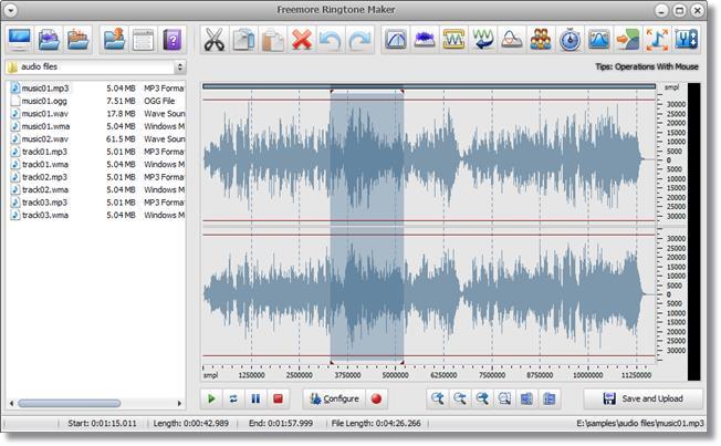 Freemore Ringtone Maker - Imagem 1 do software