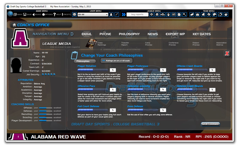 Draft Day Sports: College Basketball 3 - Imagem 3 do software
