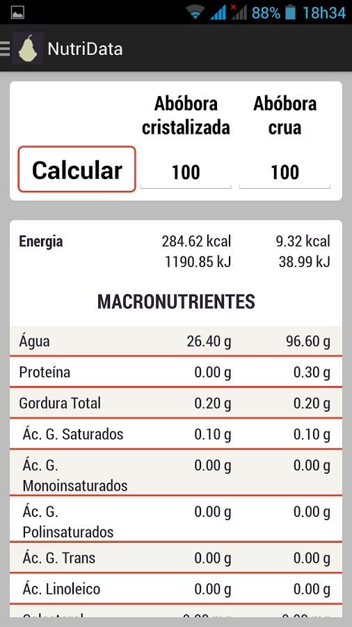 NutriData Lite - Imagem 1 do software