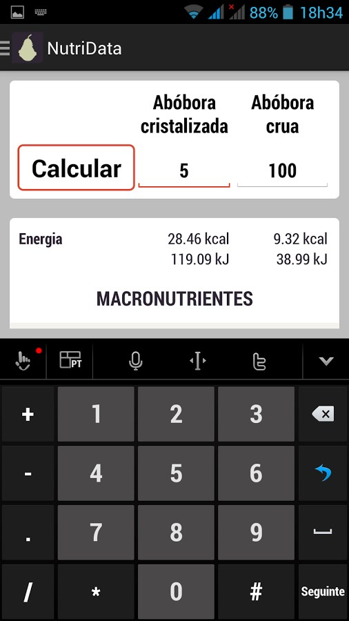 NutriData Lite - Imagem 2 do software