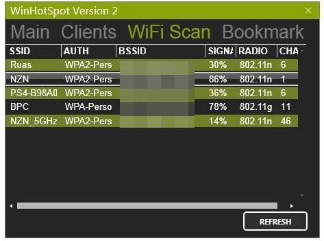 Você pode acompanhar as outras conexões WiFi.