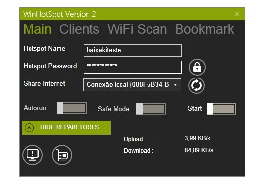 Winhotspot Virtual WiFi Router.