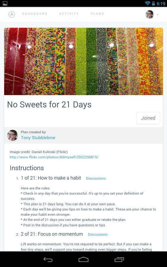 Lift – Daily Motivation - Imagem 1 do software
