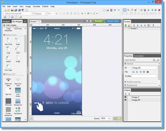 Justinmind Prototyper Free - Imagem 1 do software
