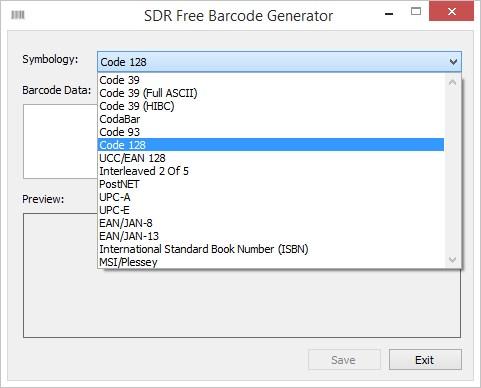 SDR Free Barcode Generator
