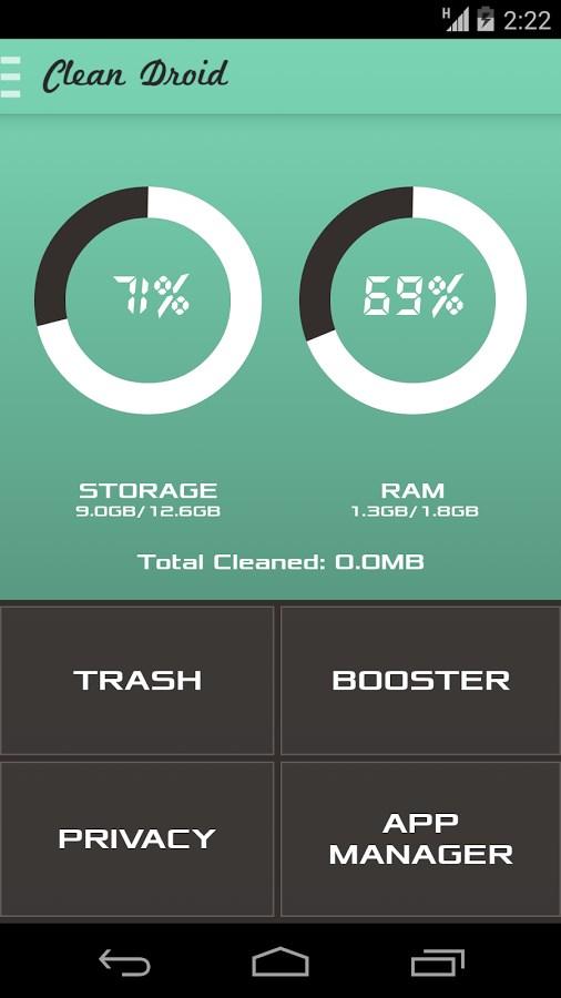 Clean Droid: Deep Cleaner - Imagem 1 do software