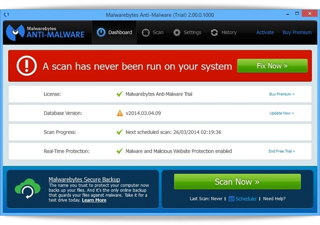 Malwarebytes Anti-Malware - Imagem 1 do software