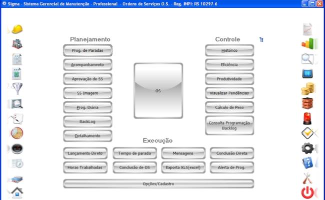 SIGMA - Sistema de Gerenciamento e Controle da Manutenção - Imagem 3 do software