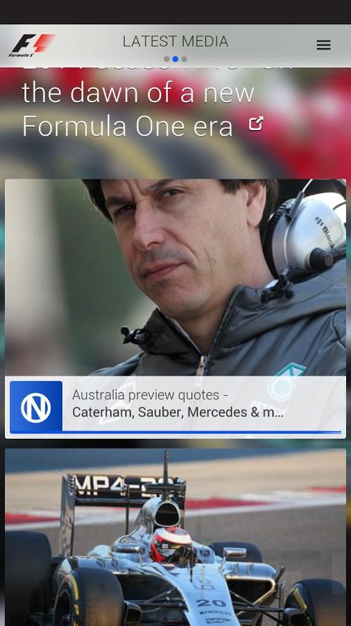 Official F1 ® App - Imagem 1 do software