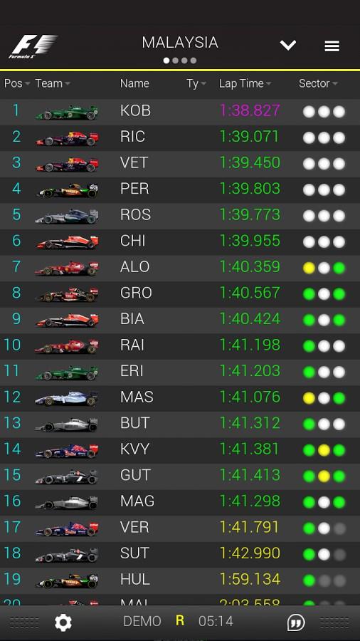 Official F1 ® App - Imagem 2 do software