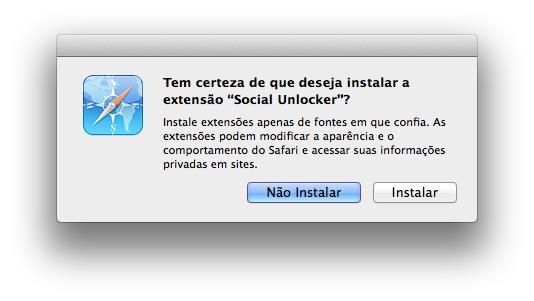 Social Unlocker para Safari - Imagem 1 do software