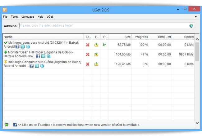 uGet Youtube Downloader - Imagem 1 do software