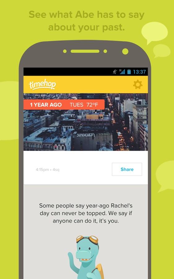 Timehop - Imagem 2 do software