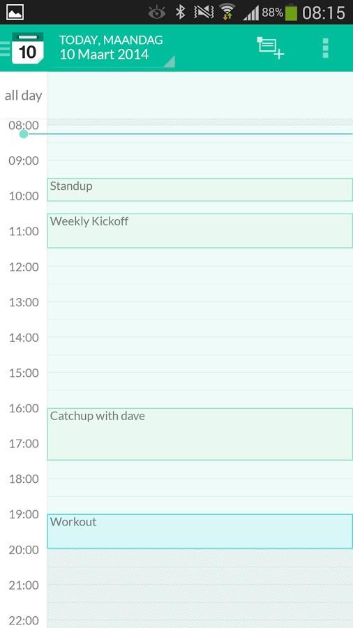 e-CAL Calendar - Imagem 2 do software