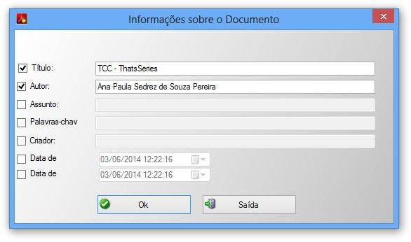 Editando informações