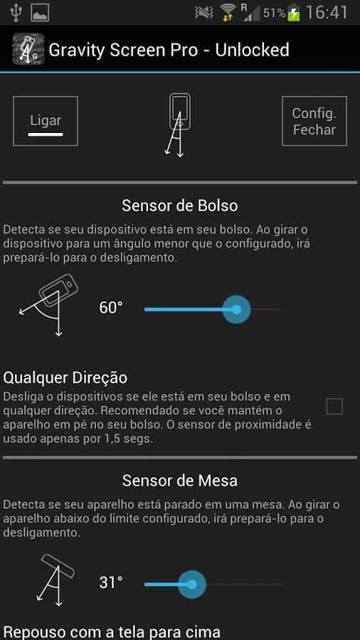 Gravity Screen - On/Off - Imagem 1 do software