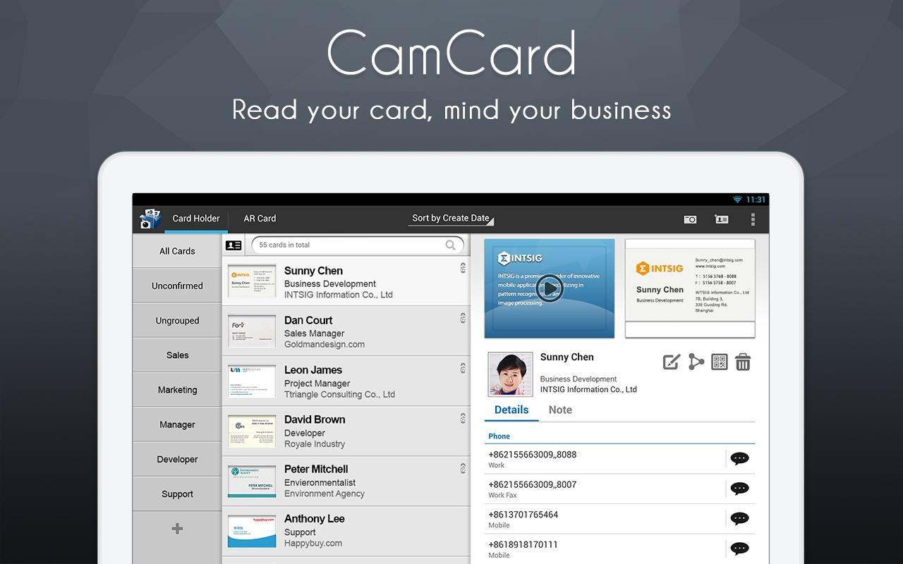 Camcard business card reader download imagem 1 do camcard business card reader reheart Gallery