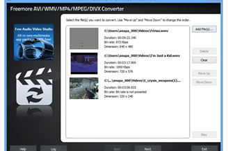 Freemore AVI/WMV/MP4/MPEG/DIVX Converter Download to Windows