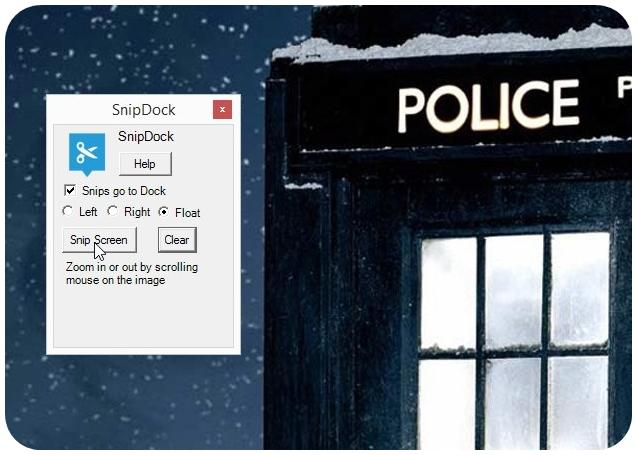 SnipDock - Imagem 2 do software