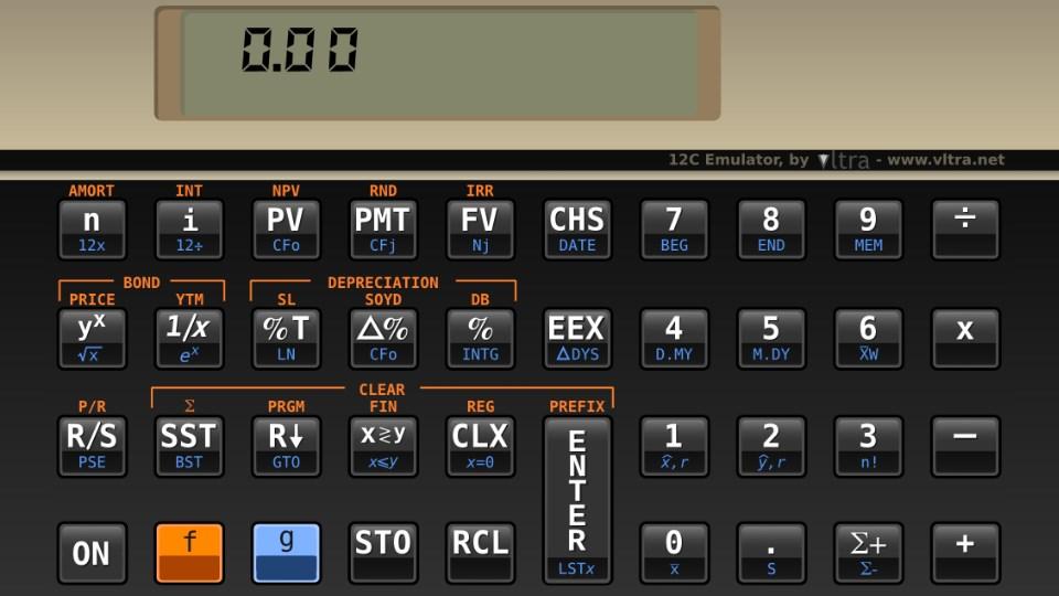 Emulador HP 12C - Free - Imagem 1 do software