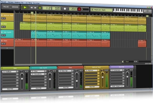 Melodia de exemplo criada no software
