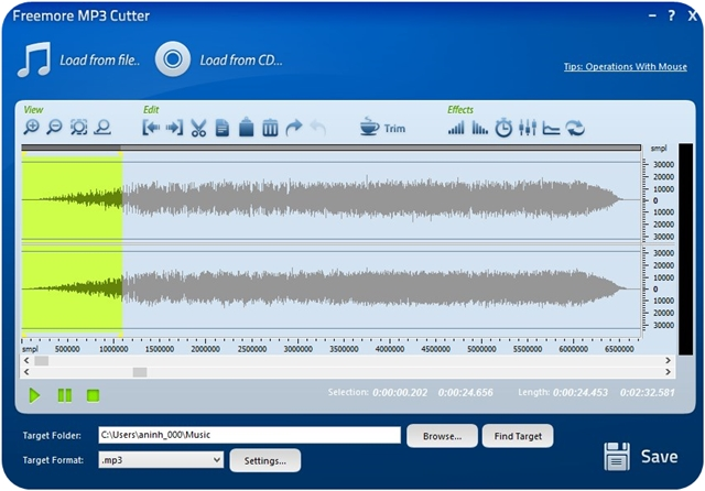 Freemore MP3 Cutter - Imagem 1 do software