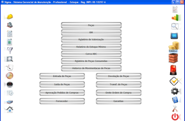 SIGMA - Sistema de Gerenciamento e Controle da Manutenção - Imagem 2 do software