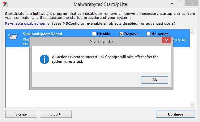 Malwarebytes StartUpLite.