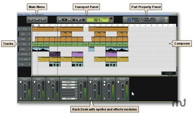 MuLab - Imagem 1 do software