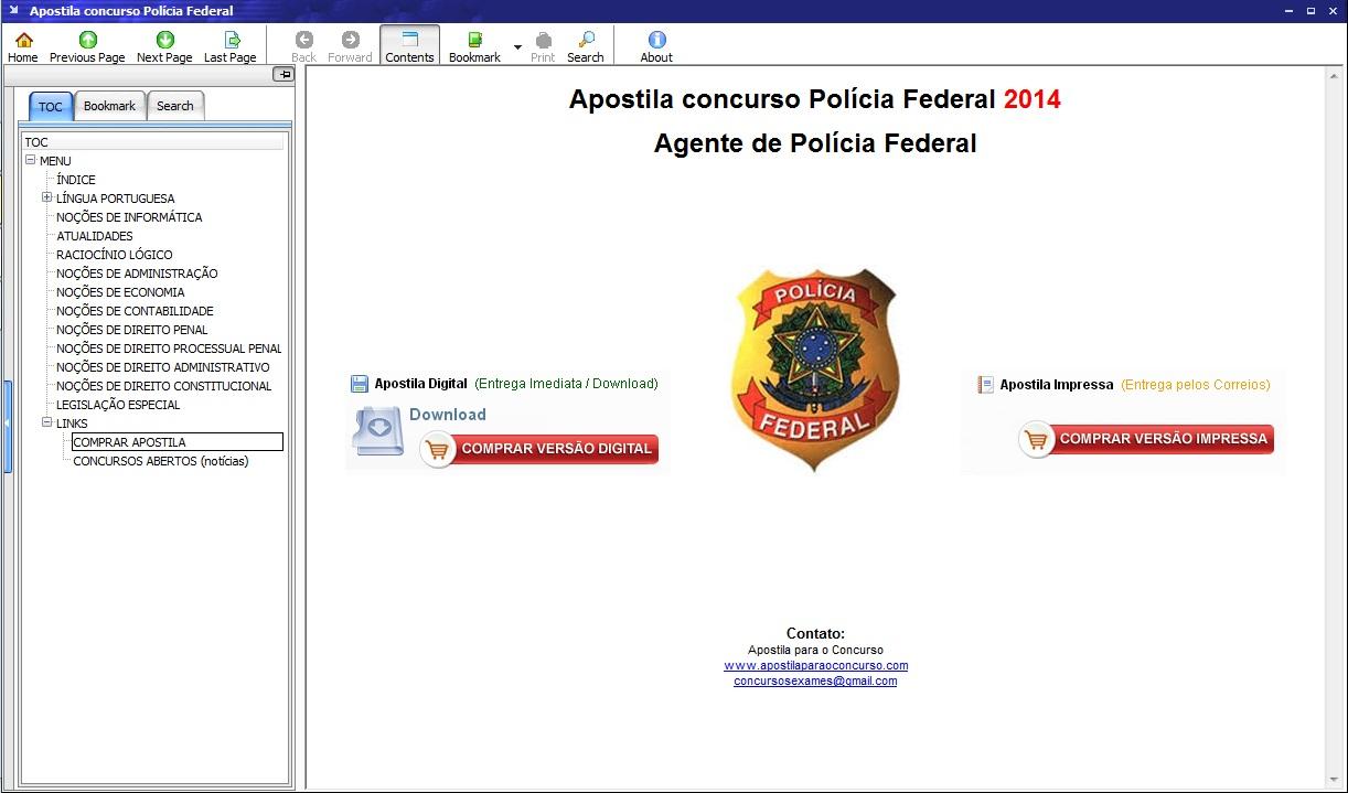Apostila Agente Polícia Federal - Imagem 1 do software