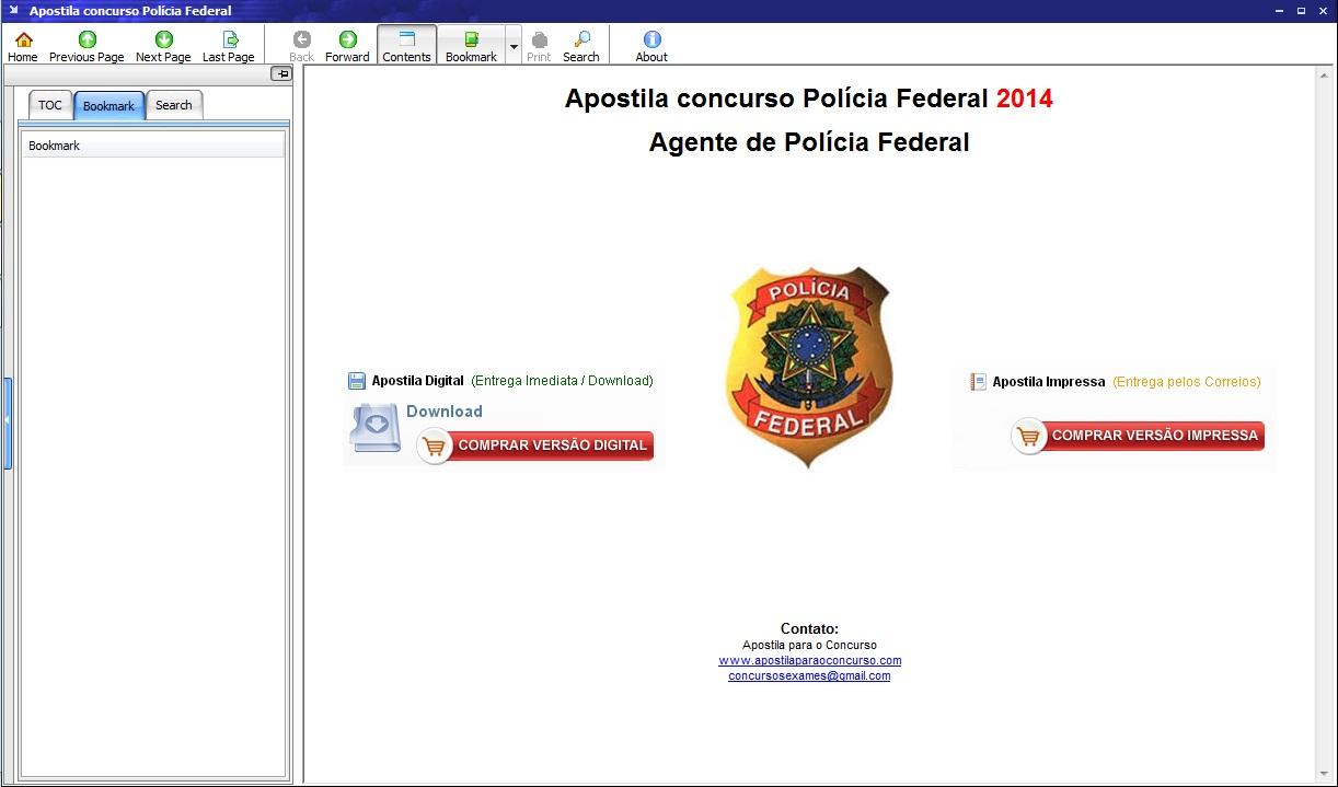 Apostila Agente Polícia Federal - Imagem 3 do software