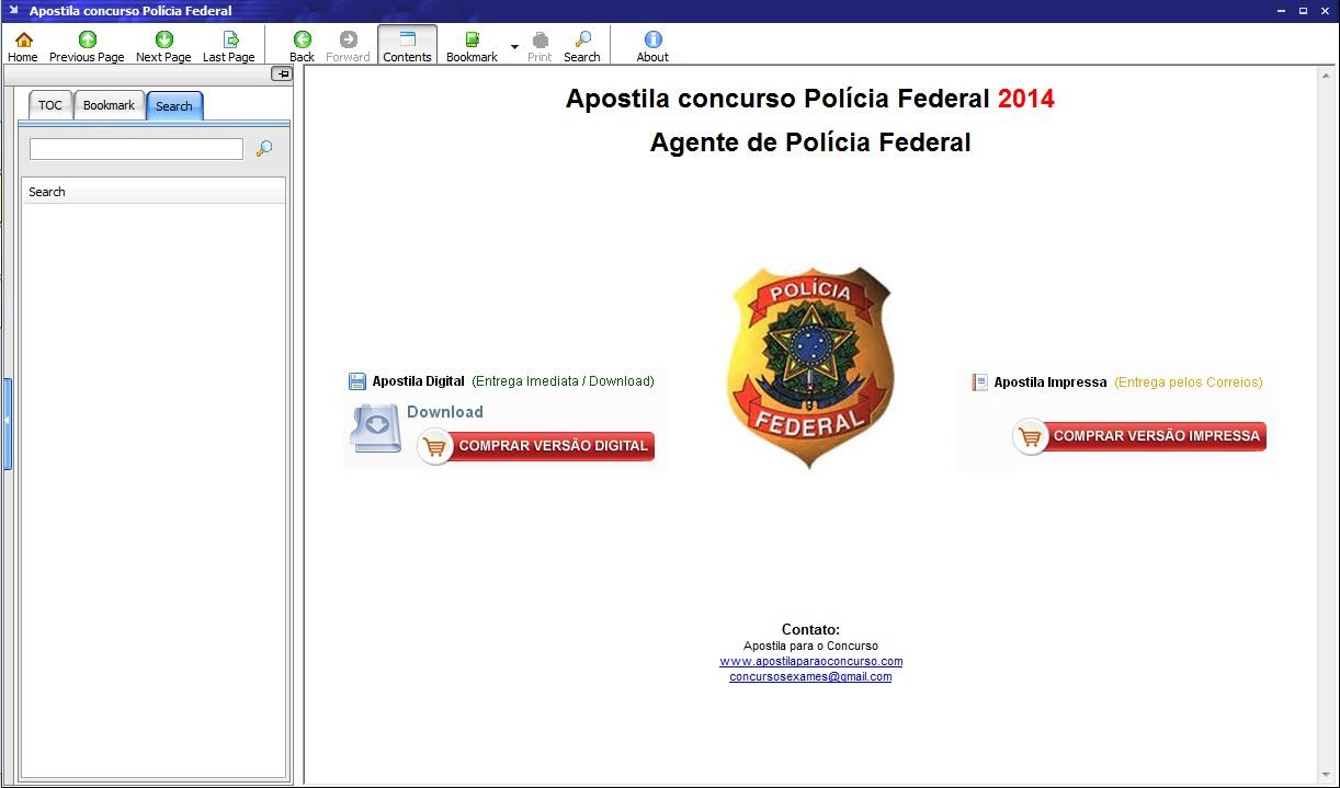 Apostila Agente Polícia Federal - Imagem 5 do software
