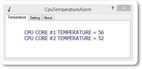 CPUTemperatureAlarm - Imagem 1 do software