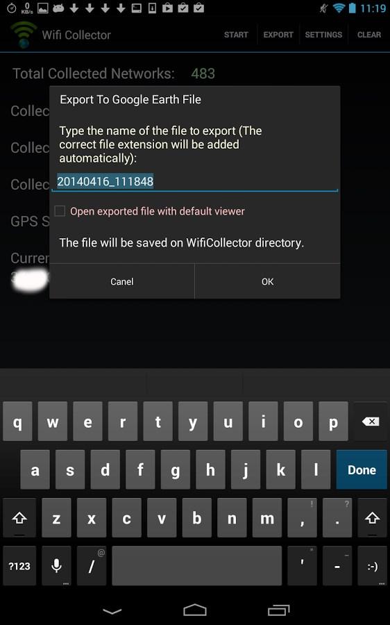 Wifi Collector - Imagem 2 do software