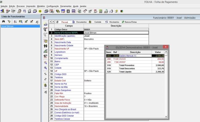 Folha de Pagamento Folli - Imagem 1 do software