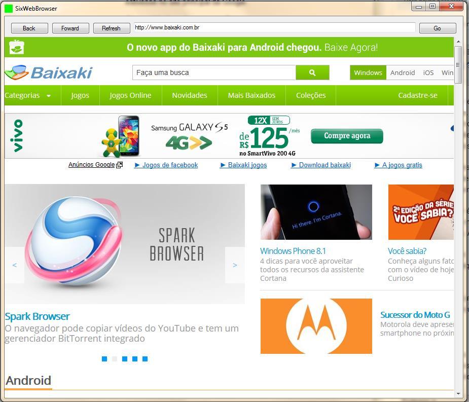 SixWebBrowser - Imagem 1 do software
