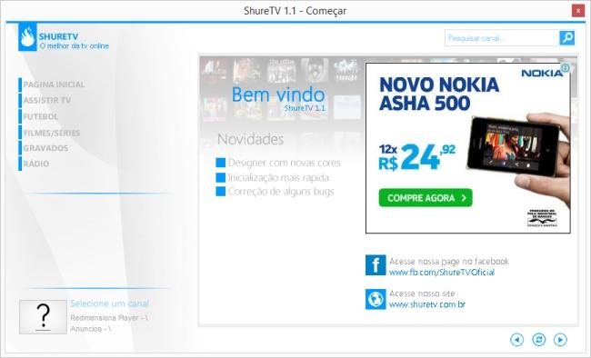 ShureTV - Imagem 1 do software